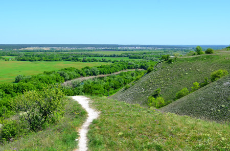 voronezh: Summer landscape of nature reserve  Divnogorie  in sunny day, Voronezh region, Russia