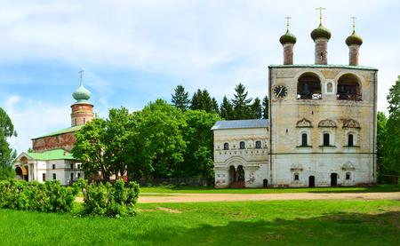 Boris e Gleb Monastero nella regione di Yaroslavl, Russia Fondata nel 1363 Panorama cucita Archivio Fotografico