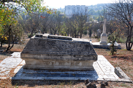 brethren: Old tomb of the Brethren Cemetery during the Crimean War, 1853-1856, Sevastopol, Ukraine Editorial