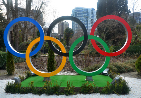 Sochi, Olympic rings in the park