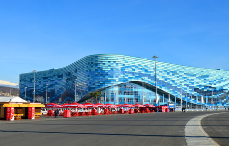 SOCHI, RUSSIA - FEBRUARY 7, 2014: Ice rink for figure skating �Iceberg� in Olympic park a few hours before the opening ceremony of the Olympic Games 2014