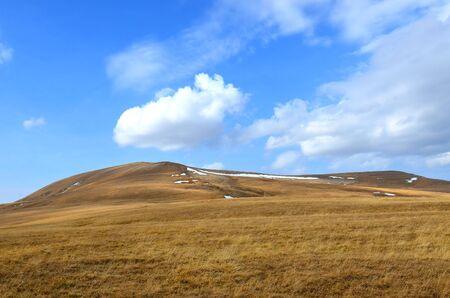 Autumn mountains ladscape. Lagonacky plateau in the Caucasian Biosphere Reserve, Adygeya, Russia. Stock Photo