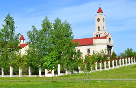 BARANOVICHI, BELARUS - May 14, 2015: Female Catholic monastery in Baranovichi. Church of Our Lady of Fatima. Stock Photo