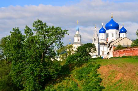 Monastery in the village of Bogolyubovo, Russia Stock Photo