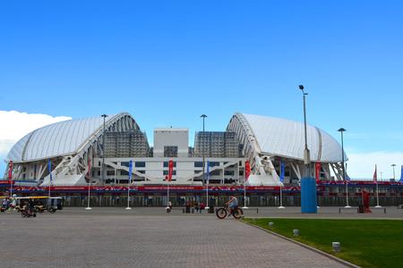 SOCHI, RUSSIA - June 16, 2017: Football stadium Fisht before Confederation Cup Editorial