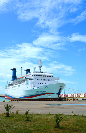 Cruise ship Prince Vladimir departs on his first flight to Crimea on the route Sochi - Novorossiysk - Yalta - Sevastopol - Sochi
