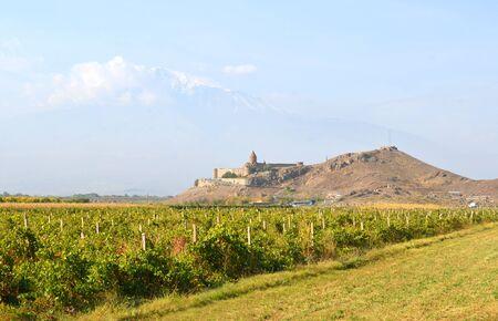 Armenia, Khor Virap movastery on the background of Mount Ararat