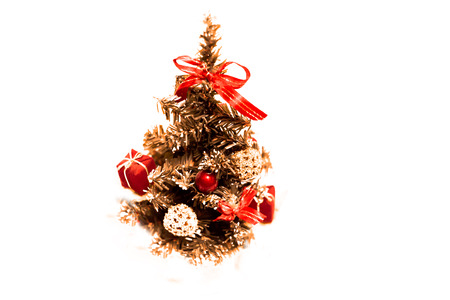 New year tree in white background photo