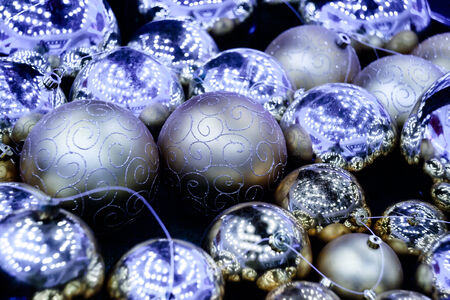 underlying: Christmas decorations of Christmas colorful background Stock Photo