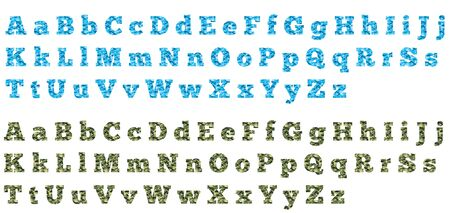 Blue & Green Camo Chunky Alphabet Letters
