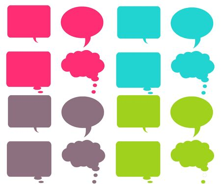 Colorful Chat Bubbles Stock Photo