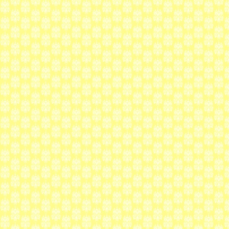 Mellow Yellow Damask Background