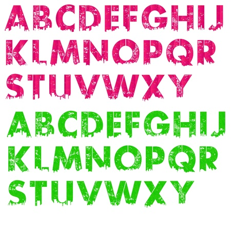 Hot Pink & Lime Green City Letters