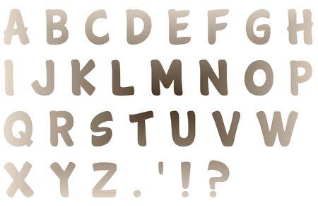 Multi-Colored Tan Cartwheel Letters Imagens