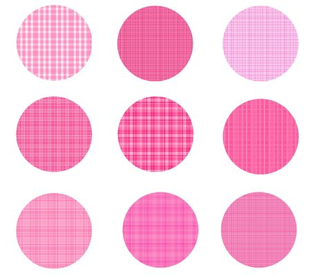 Pink Plaid Circles Stock Photo