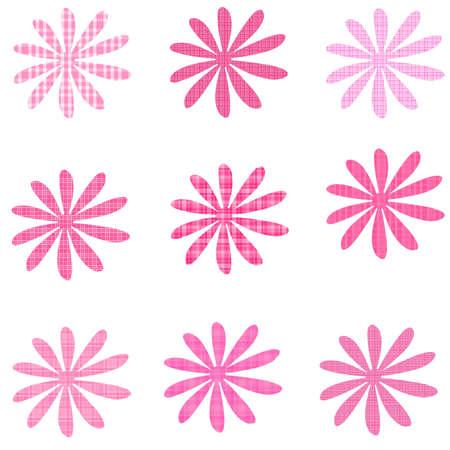 Pink Plaid Flowers