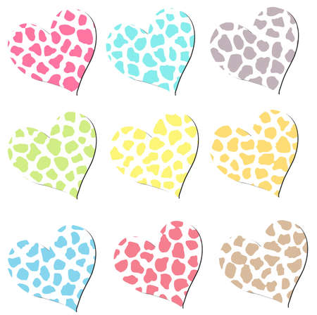 Colorful Cheetah Hearts