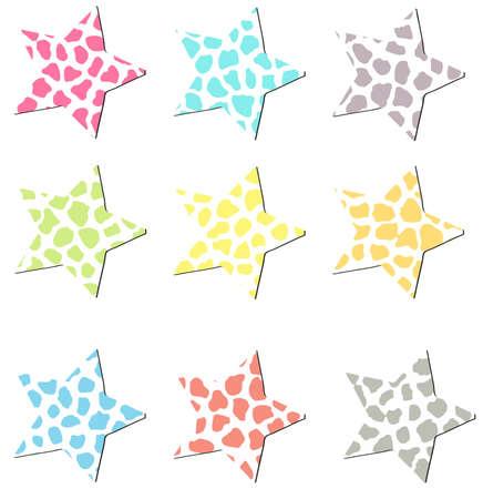 Colorful Cheetah Stars