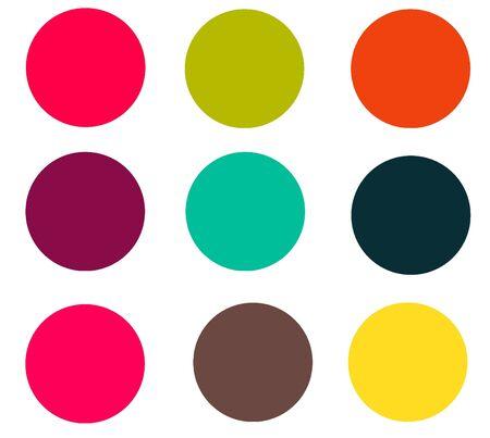 Carnivale Colored Circles Stock Photo