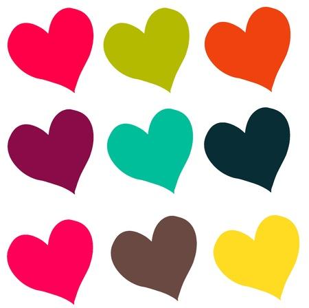 Carnivale gekleurde harten