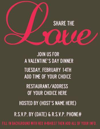 Love V-Day Dinner Invite