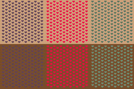 Assorted Hearts Heart Backgrounds Stock Photo