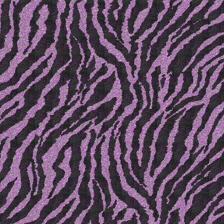 Purple Glitter Zebra photo