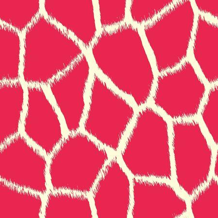 Pink Giraffe Print