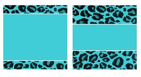 青い & 黒ヒョウ ペーパー セット 写真素材