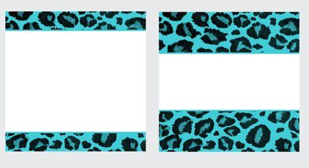 Blue & White Leopard Paper Set