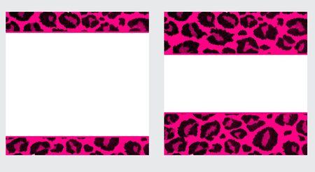 핑크 & 화이트 레오파드 용지 설정