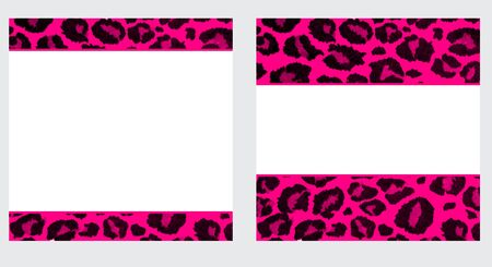 paper background: Pink & White Leopard Paper Set