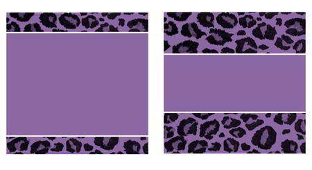 Purple & Black Leopard Paper Set