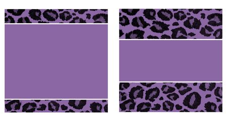 Purple & Black Leopard Paper Set