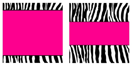 ピンクのシマウマの紙のセット