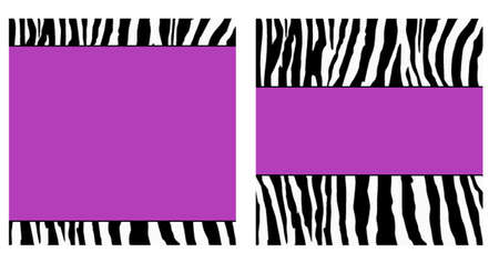 Purple Zebra Paper Set