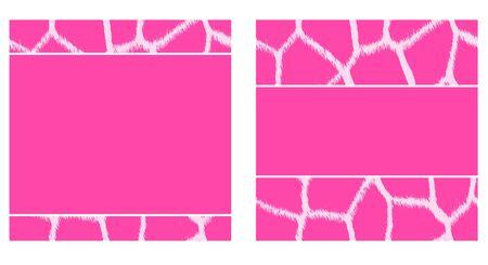 Pink & White Giraffe Paper Set