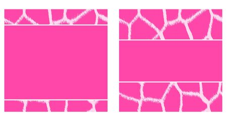 Pink & White Giraffe Paper Set photo