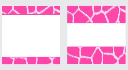 White & Pink Giraffe Paper Set Stock Photo