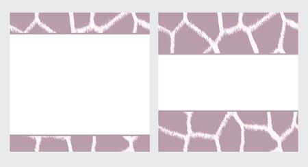 White & Purple Giraffe Paper Set Stok Fotoğraf - 12767696