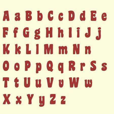 Brown & Red Heart Alphabet Letters photo