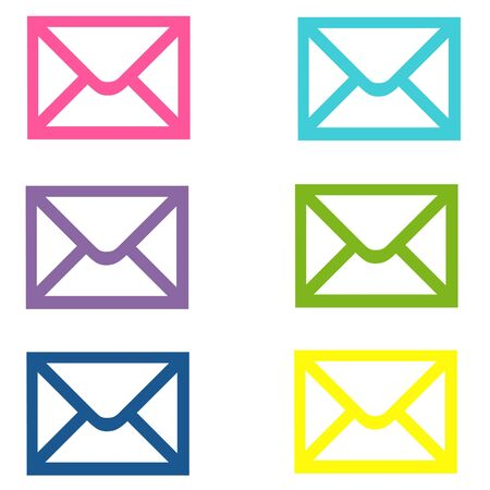 Colorful Email Envelopes Stock Photo