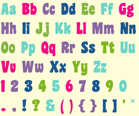 Colorful Alphabet Letter & Number Set