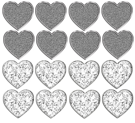 Bling Heart Shapes Template