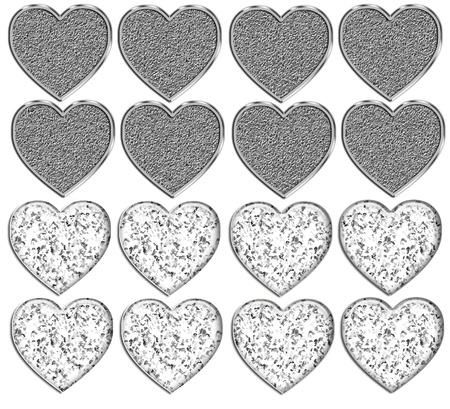 Bling Heart Shapes Template Stock fotó - 12767883