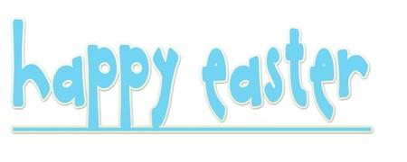 Blue Happy Easter Banner Banco de Imagens