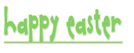 Green Happy Easter Banner Stock Photo