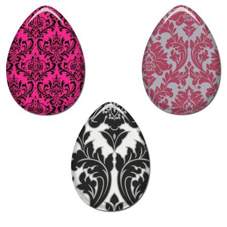 Damask Easter Eggs Set 2
