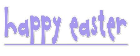 Purple Happy Easter Banner