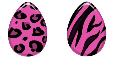 Hot Pink Animal Print Easter Eggs photo